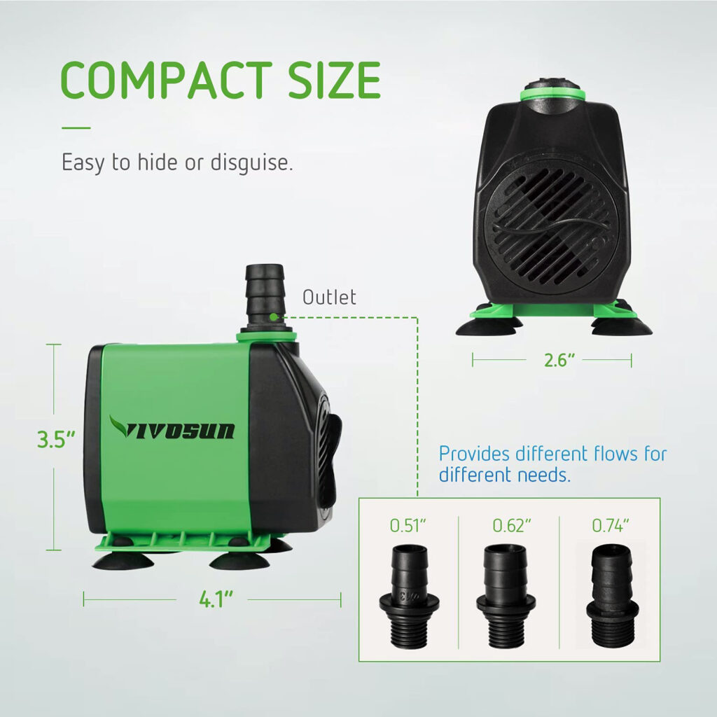 Hydroponic Water Pump for NFT